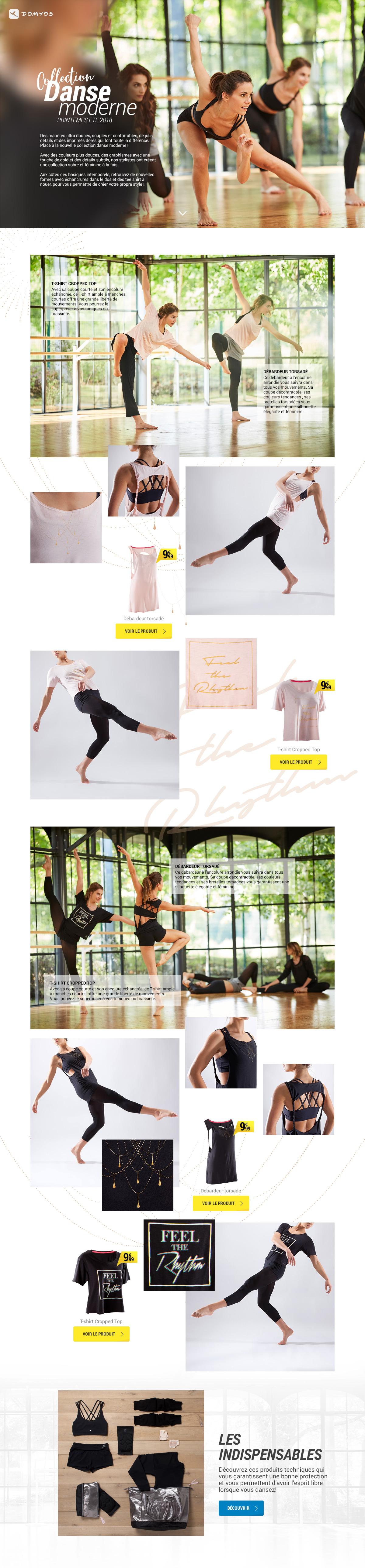 Domyos   Lookbook Danse moderne 2018